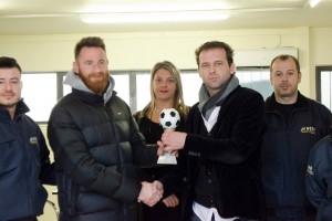 Βράβευση MVP 17ης αγωνιστικής στον παίχτη του Παναιτωλικού Δημήτρη Κυριακίδη, στα γραφεία της NOVA GROUP.